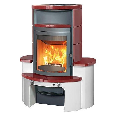 Estufa de leña/duración de la marca horno Hark Avenso ecoplus bordeauz-rojo 8