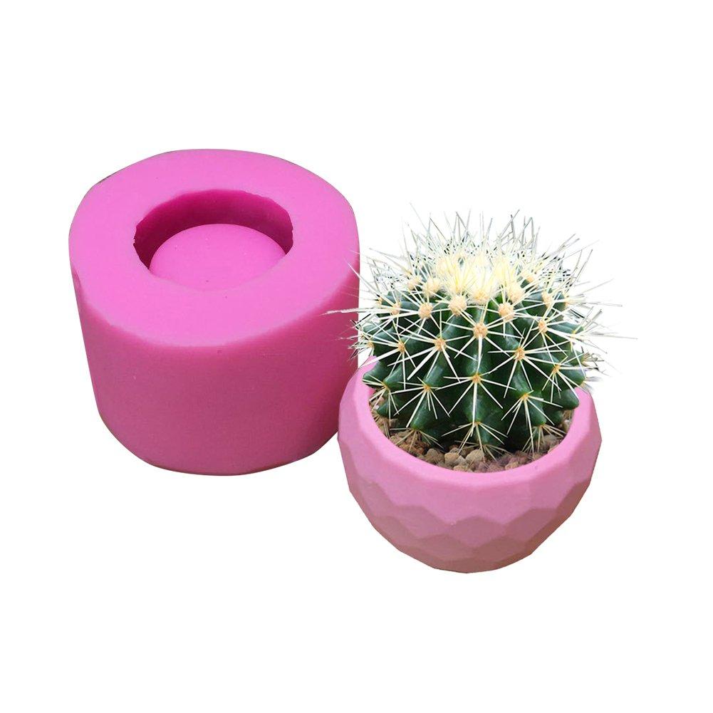 DIY Flower Pot Silicone Mold Succulent Plants Concrete Planter Vase Molds Candle Holders Mold Color Random (Bowl)
