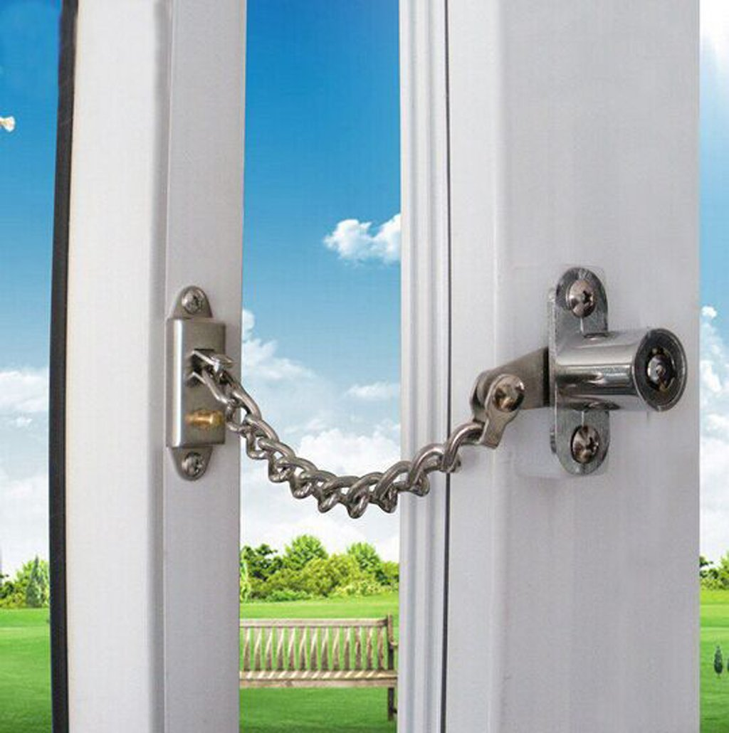 Amazon.com : Flii® Lockable Window Security Chain Lock Door ...