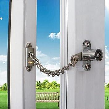 Amazon.com : Flii® Lockable Window Security Chain Lock Door ...