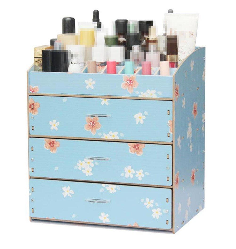 Cosmetic Storage Box Cosmetic Storage Organizer With Big Drawers For Girls Display Beauty,Lipstick,Makeups Organization