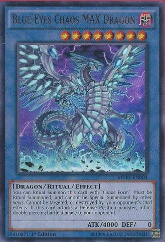 Yu-Gi-Oh! - Blue-Eyes Chaos MAX Dragon (MVP1-EN004) - The Dark Side of Dimensions Movie Pack - 1st Edition - Ultra Rare from Konami