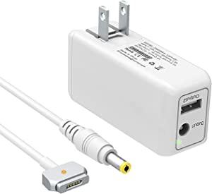 BND 45W Mini Charger for MacBook Air 11 13 inch (Made After Mid 2012) Replacement for Magnetic 2 Power Adapter T-Tip Lightweight Portable Travel MBA Wall Charger -One Extra USB Port