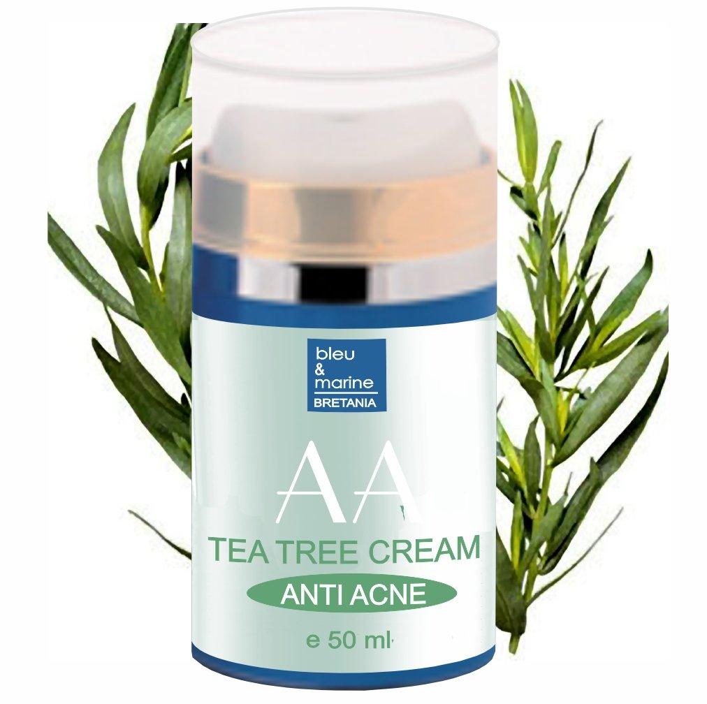 Crema Idratante di Aloe Vera e Albero del tè 50 ml Anti Acne Unisex Made in France 3701076201533