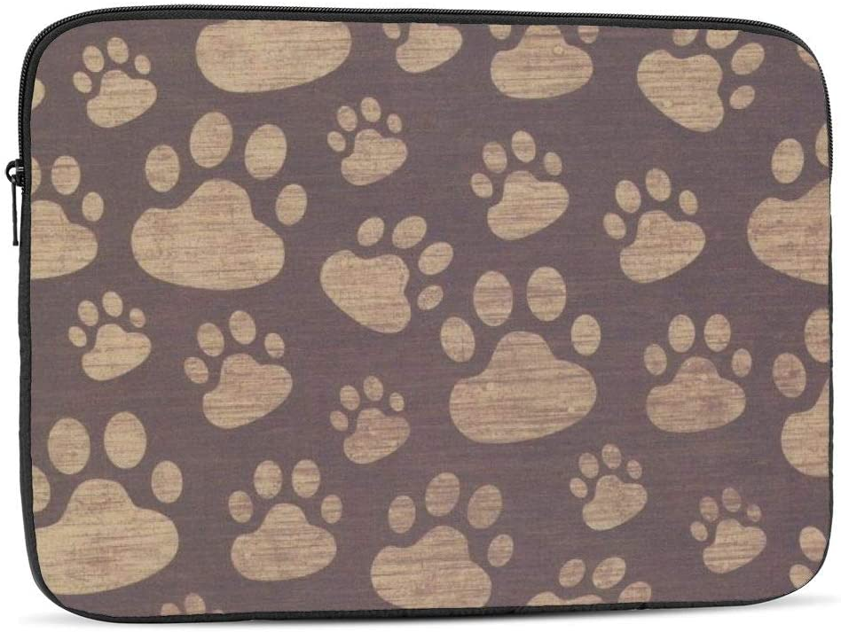 Paw Prints Laptop Sleeve 17 inch, Shock Resistant Notebook Briefcase, Computer Protective Bag, Tablet Carrying Case for MacBook Pro/MacBook Air/Asus/Dell/Lenovo/Hp/Samsung/Sony
