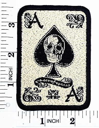 [Gold Skull Ace Card Gambling Winner Playing Card Casino Las Vegas patch Motorcyle Bike Novelty patch Symbol Jacket T-shirt Patch Sew Iron on Embroidered Sign Badge] (Lucky Lady Casino Costume)
