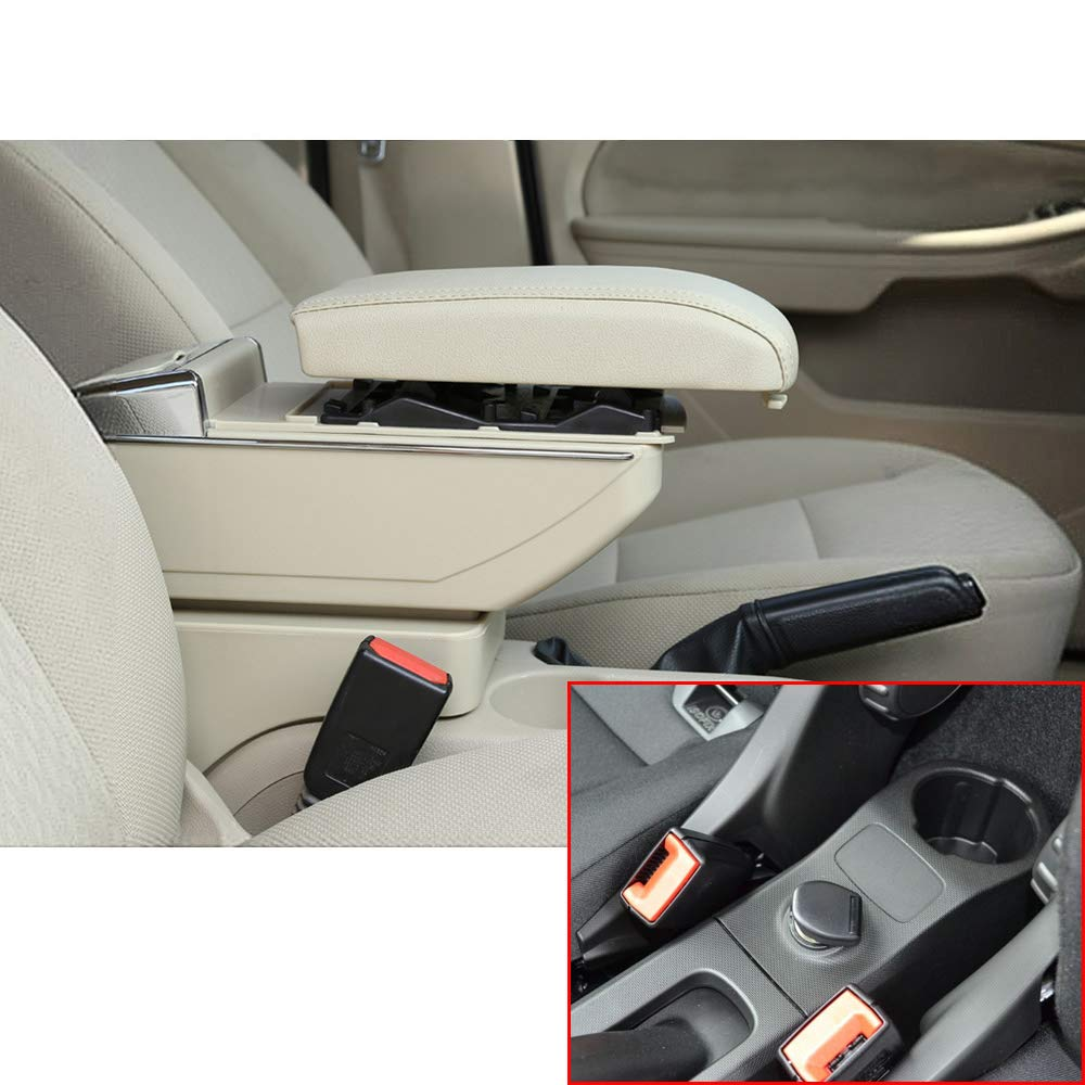 F/ür Smart Luxus Auto Armlehne Mittelarmlehne mittelkonsole Zubeh/ör Eingebaute LED-Licht Schwarz