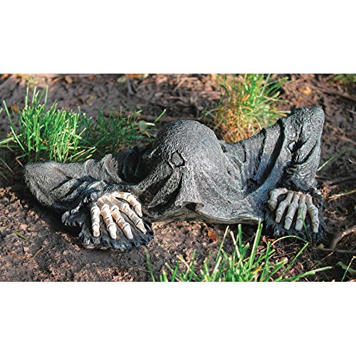 Design Toscano The Creeper from The Grave Zombie Garden Statue - Zombie Decorations - Halloween Decoration