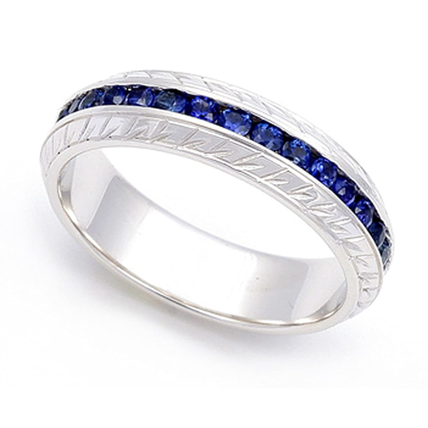 sapphire bands sizes amazon sterling to ring eternity jewelry carats blue com band silver dp created