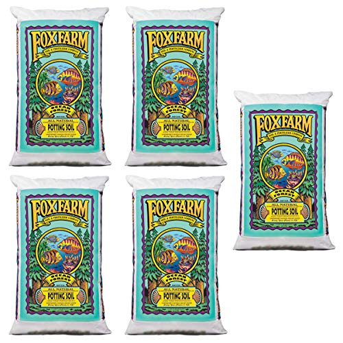 FoxFarm FX14000 Ocean Forest 6.3-6.8 pH Plant Garden Potting Soil Mix, 40 Pounds (5 Pack) 40 Lb Potting Soil