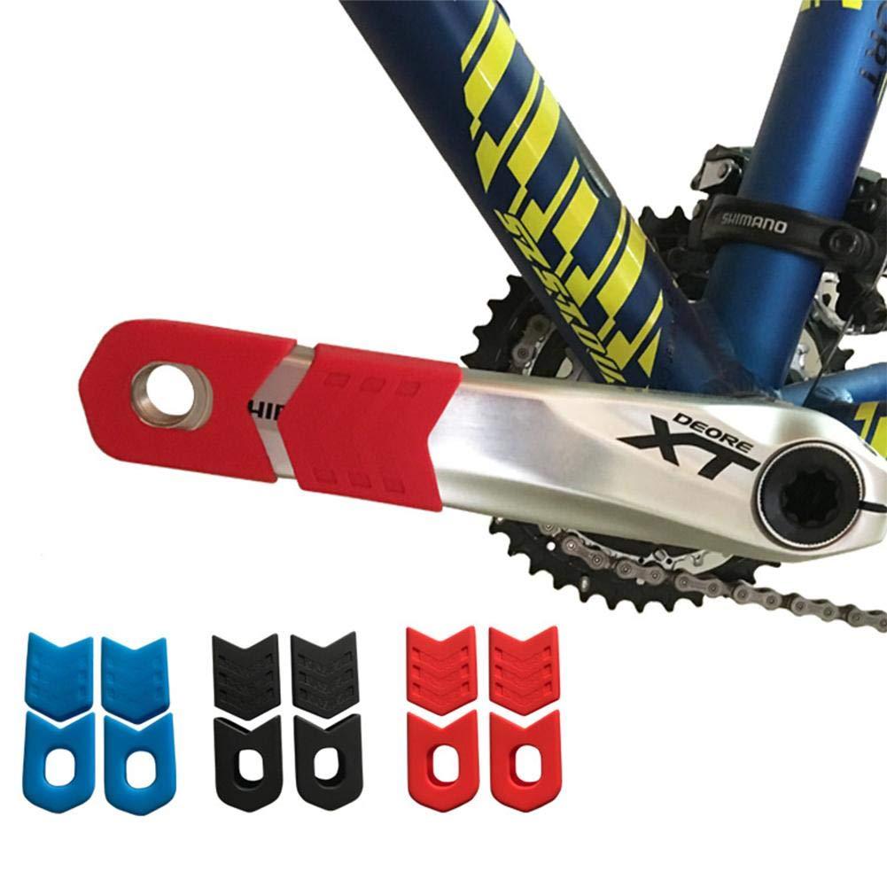 Fancylande 4 St/ücke Kurbelschutzh/ülse Universal Fahrradkurbelschutz Silikon Mountainbike Kurbelabdeckung Schutzh/üllen Kurbelgarnitur Kurbelarmschutz