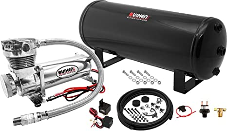 Vixen aire 3 gallon (12 litros) Depósito con 200 PSI Negro Compresor sistema de