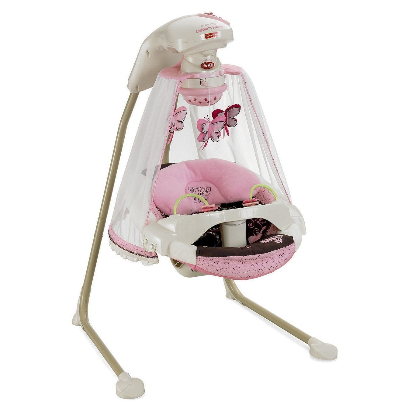 Fisher-Price - Papasan Cradle Swing, Mocha Butterfly Fisher Price