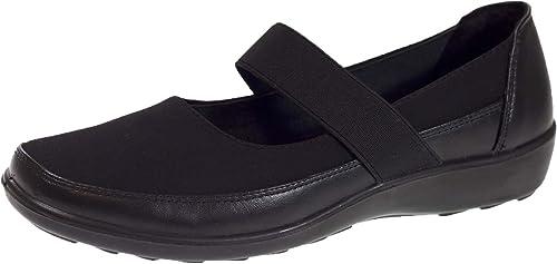 Boulevard Pumps Flat Work Memory Foam Black Lightweight Slip On Womens Shoes