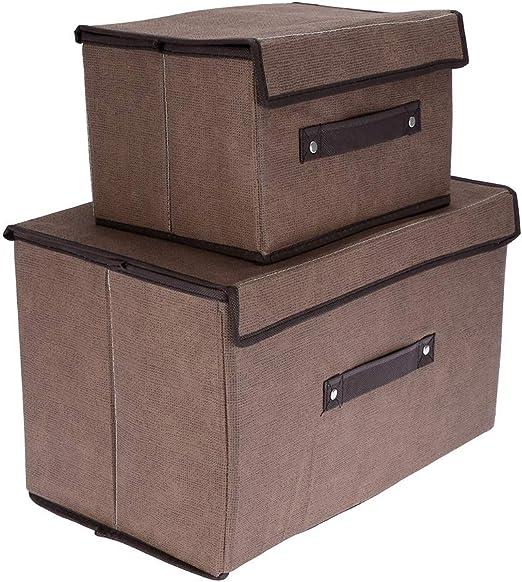 Duokon Organizador de la Caja de Almacenamiento Plegable con Tapa ...