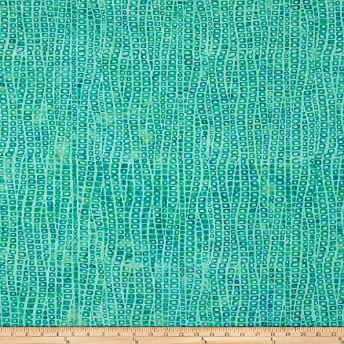 Teal Batik (Wilmington Batiks Stepping Stones Light Teal Fabric By The Yard)