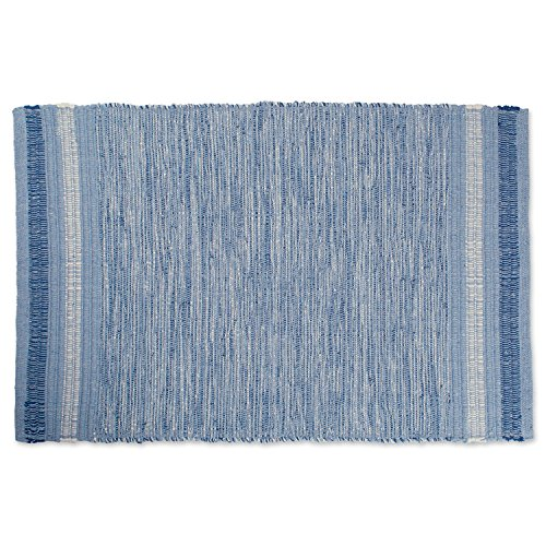DII Variegated Blue Recycled Yarn 2x3 FT Rug, Varigated