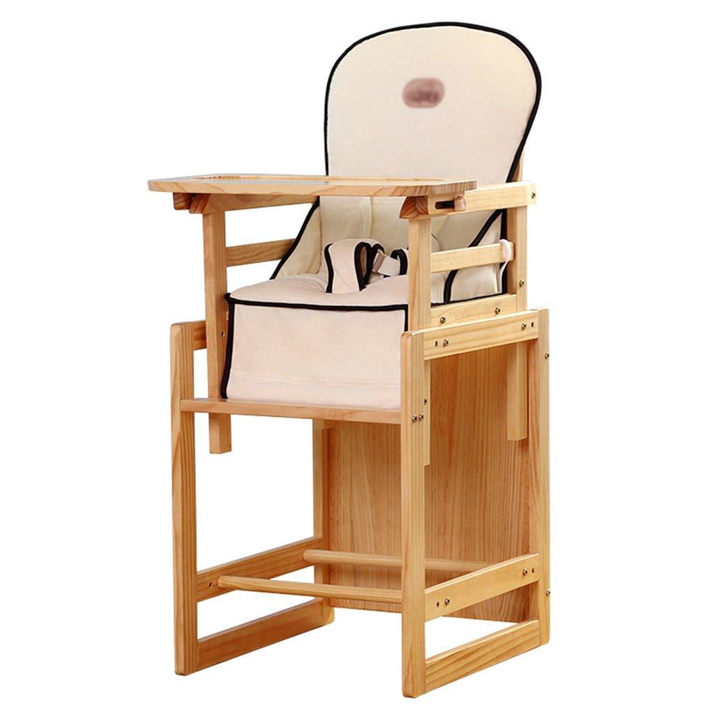 ZGL 子ども椅子 子供ダイニングチェアソリッドウッド多機能ベビーダイニングテーブル子供の食事チェアベビーダイニングチェア ( 色 : ベージュ )  ベージュ B07C54DND9