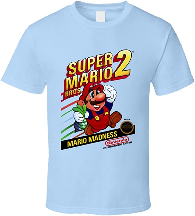 Animated Cartoon Video Game Spoof Tee Top Super Mario T-Shirt