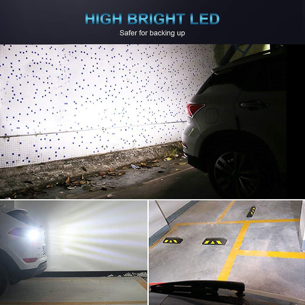High Bright Backing Up Lamps Rear Parking Lights 2 Pieces 1156 BA15S P21W LED Reversing Light Bulbs DRL Daytime Running Lights 6000K 12V
