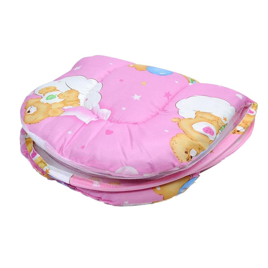 Sunward Hot! Baby Bed Mosquito Net with Cushion Portable Folding Crib Mattress (Pink) by Sunward (Image #3)