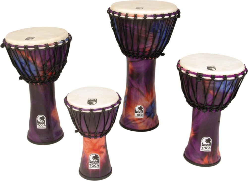 Toca Synergy Freestyle Rope Tuned Djembe 9 In Purple SFDJ-9WP
