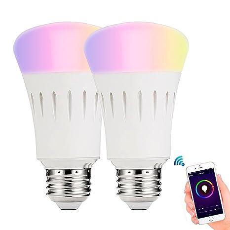 wowfeel 7 W Smart WiFi bombilla LED regulable luces que cambian de Color Multicolor trabajo con