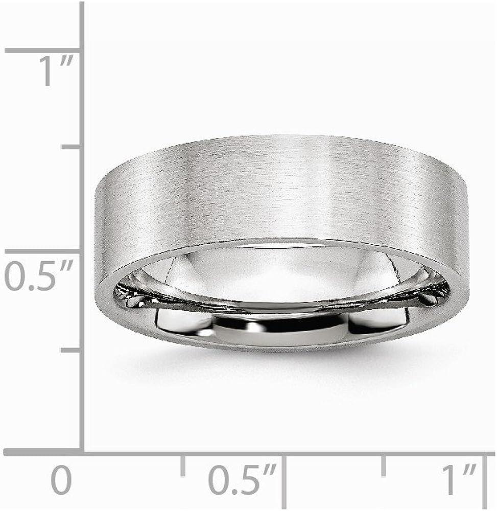 Cobalt Flat Satin 7mm Band Size