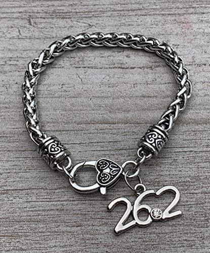 26.2 Marathon Expandable Bangle Charm Bracelet-Running Jewelry-New York,Boston,Marine Corp,Disney Marathon Gifts