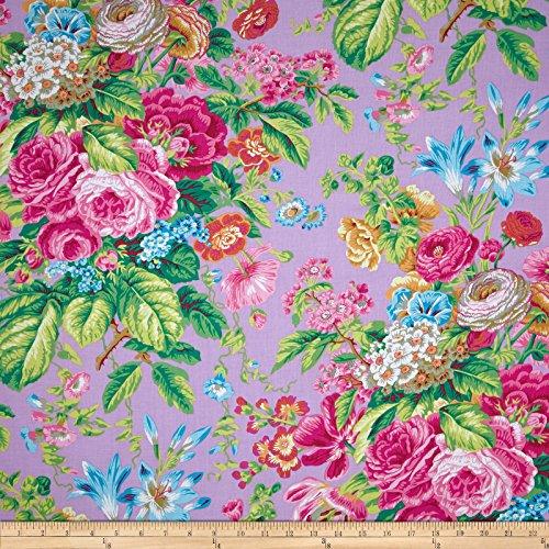 FreeSpirit Fabrics 0410799 Kaffe Fassett Floral Delight Lavender Fabric by The Yard, ()