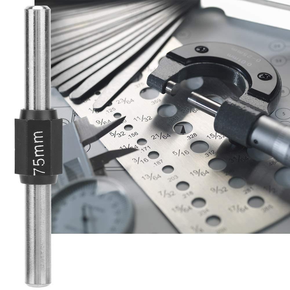 Size : 25mm 25//50//75//100mm Stainless Steel Outside Micrometer Standard Caliper Calibration Block Rod Bar LEKU Calibration Rod