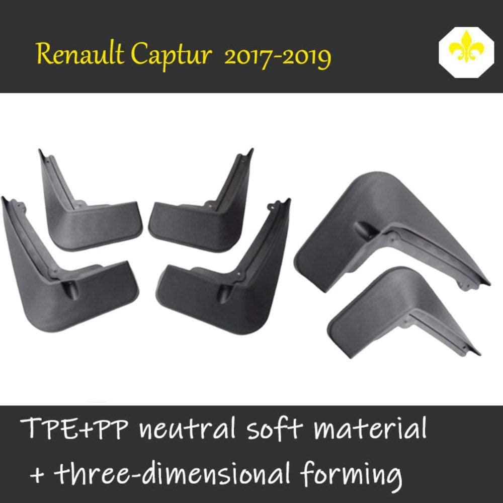 Verbesserte Fender Styling /& Body Fittings Mud Flaps Splash Guards F/ür Renault Captur 2017-2019 Vorne Hinten Spritzschutz Set Schrauben 4Pcs Schmutzf/änger Gummi Kotfl/ügel Schwarz