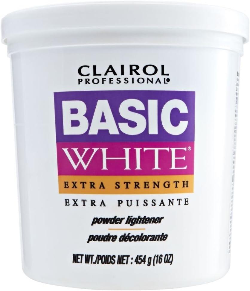 CLAIROL Professional Basic White Extra Strength Powder Lightener 1lb/454g: Health & Personal Care