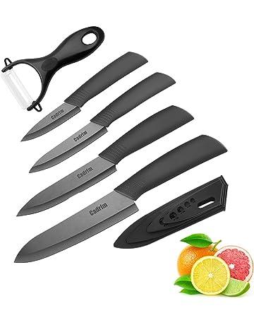 Cadrim Cuchillos Chef, Cuchillos de Cocina de Cerámica,Cuchillos de Cerámica para Cortar Carne