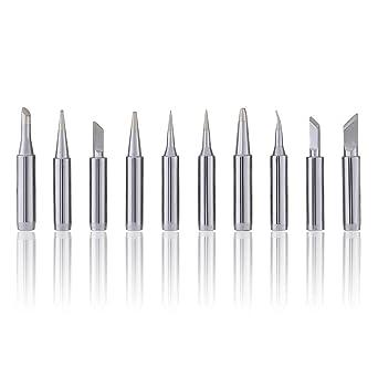 Lote de 10 piezas 900 M-T puntas de soldadura estándar para 936, 969, 8586