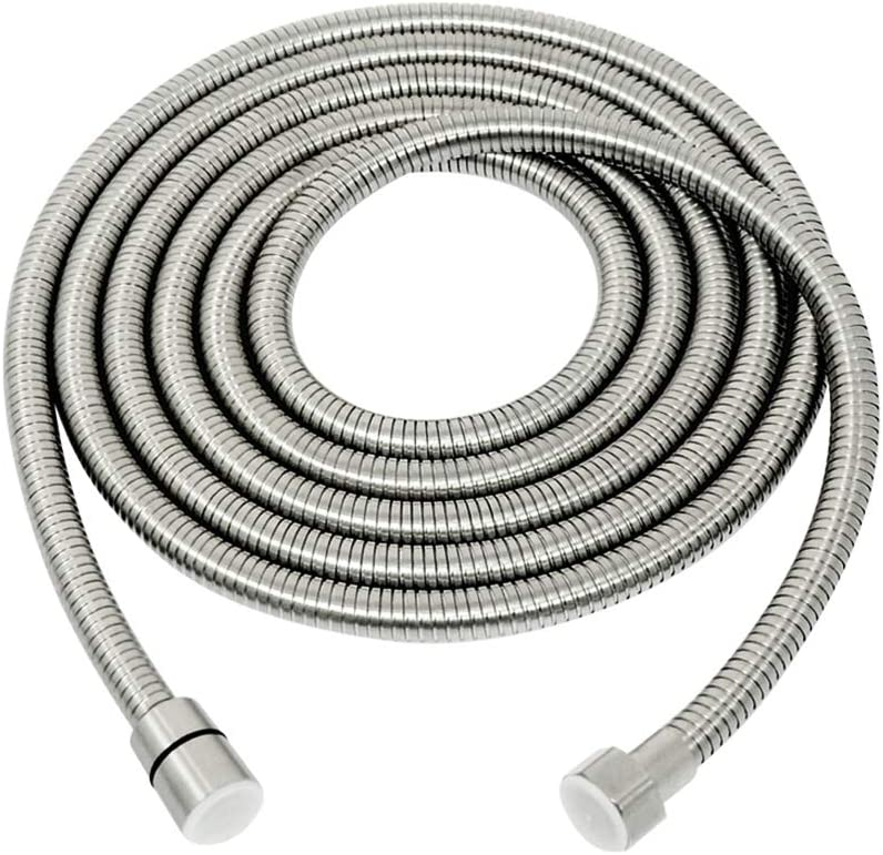 PHASAT 138-Inch Extra Long Shower Hose 304 Stainless Steel Handheld Shower Head Hose Extension, Outdoor Bathroom Tube Sprayer Replacement Hose Brushed Nickel, A3107N-3.5 - -