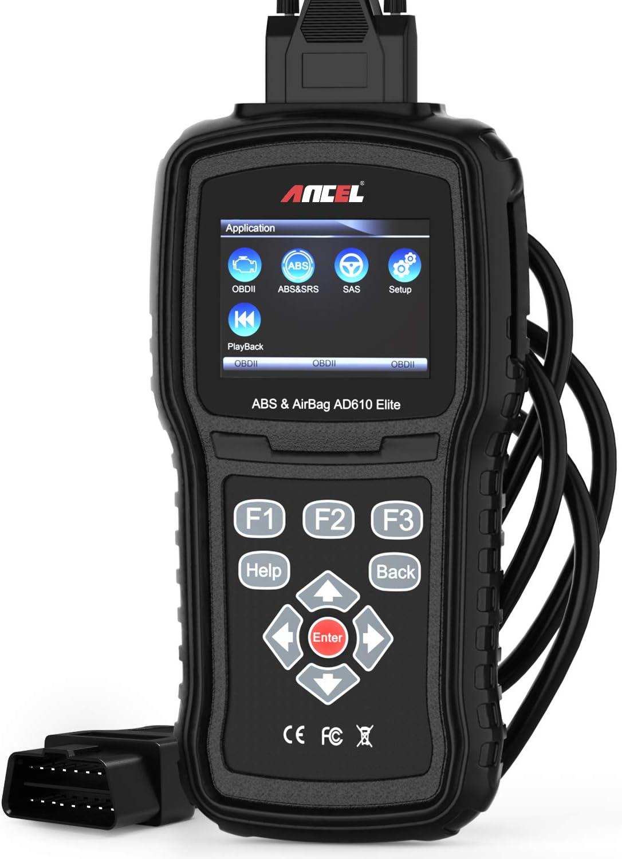 ANCEL AD610 Elite OBD II Car Code Reader Automotive Engine Diagnostic Scan Tool ABS SAS SRS Airbag Crash Data Reset Scanner-DE
