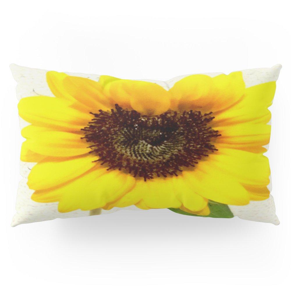 Society6 Heart Shape Love Yellow Sunflower Pillow Sham King (20'' x 36'') Set of 2