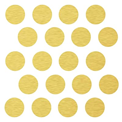 "(80) 3"" Gold Polka Dot Decals -Removable Peel and Stick Circle Wall Decals for Nursery, Kids Room, Mirrors, and Doors: Home & Kitchen"