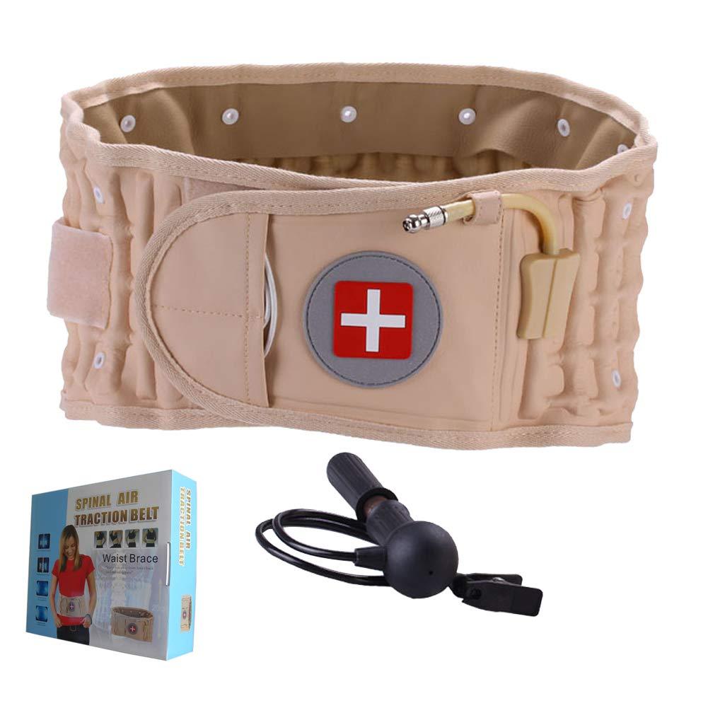 OMZBM Apoyo de descompresión de compresión 2-en-1 Dispositivo de tracción Lumbar Terapia física-Espalda Baja Alivio del Dolor Soporte en casa Lumbar/cinturón Trasero-Tamaño para 45-55 Pulgadas