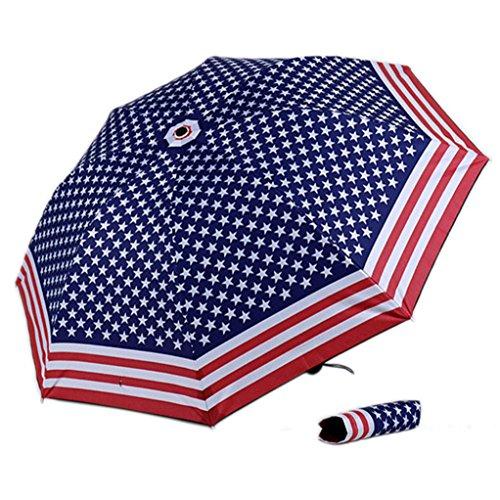 HongXander Anti UV Sun Protection Umbrella Sky 3 Folding Parasols Rain Umbrella (Insideout Patio Furniture)