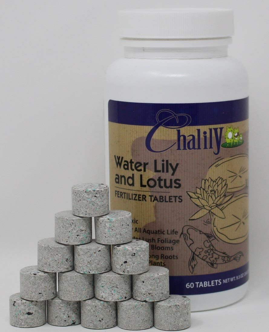 Chalily Aquatic Plant Fertilizer for Water Lily and Lotus | 10-14-8 Guaranteed Analysis with Humates| 60 Tablets
