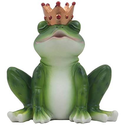Beautiful Romantic Kissing Frog Prince Figurine For Decorative Fairytale Girls Bedroom  Décor Or Valentines Day Gifts For