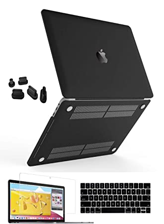 Rubberized Black Matte Hard Case Cover For 2018 15.4 Pro Macbook Touch Bar A1990