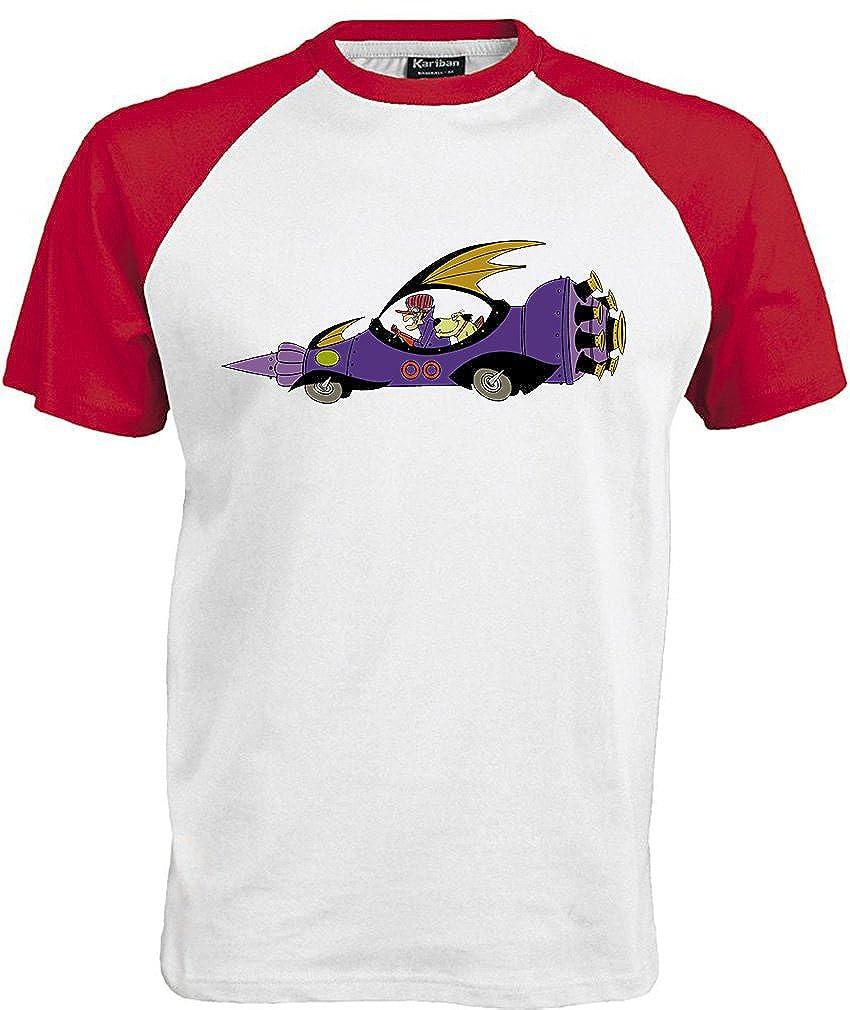 Wacky Races Ufficiale Maschile Dastardly e Muttley Retro T-Shirt 80s Cartoons