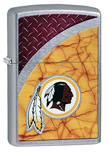 Zippo NFL Washington Redskins Street Chrome Pocket Lighter