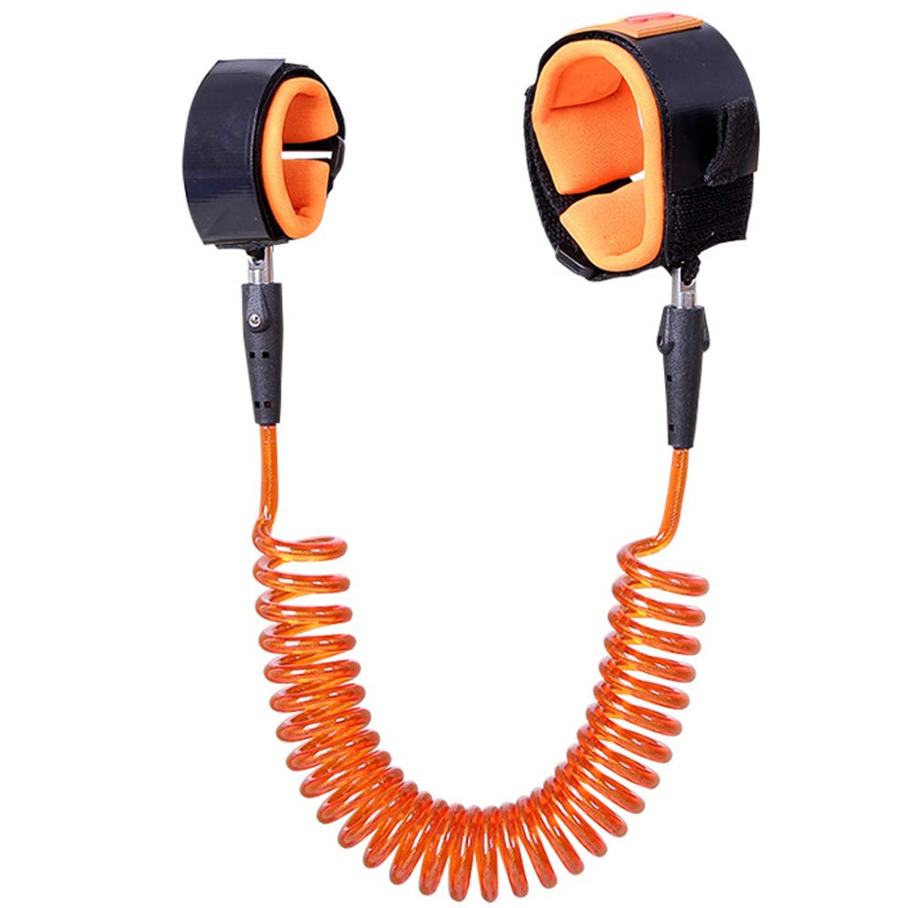Children's Anti-Lost Rope 1.5 Meters Anti-Lost with Traction Rope Baby Anti-Missing Bracelet,Orange,1.5m