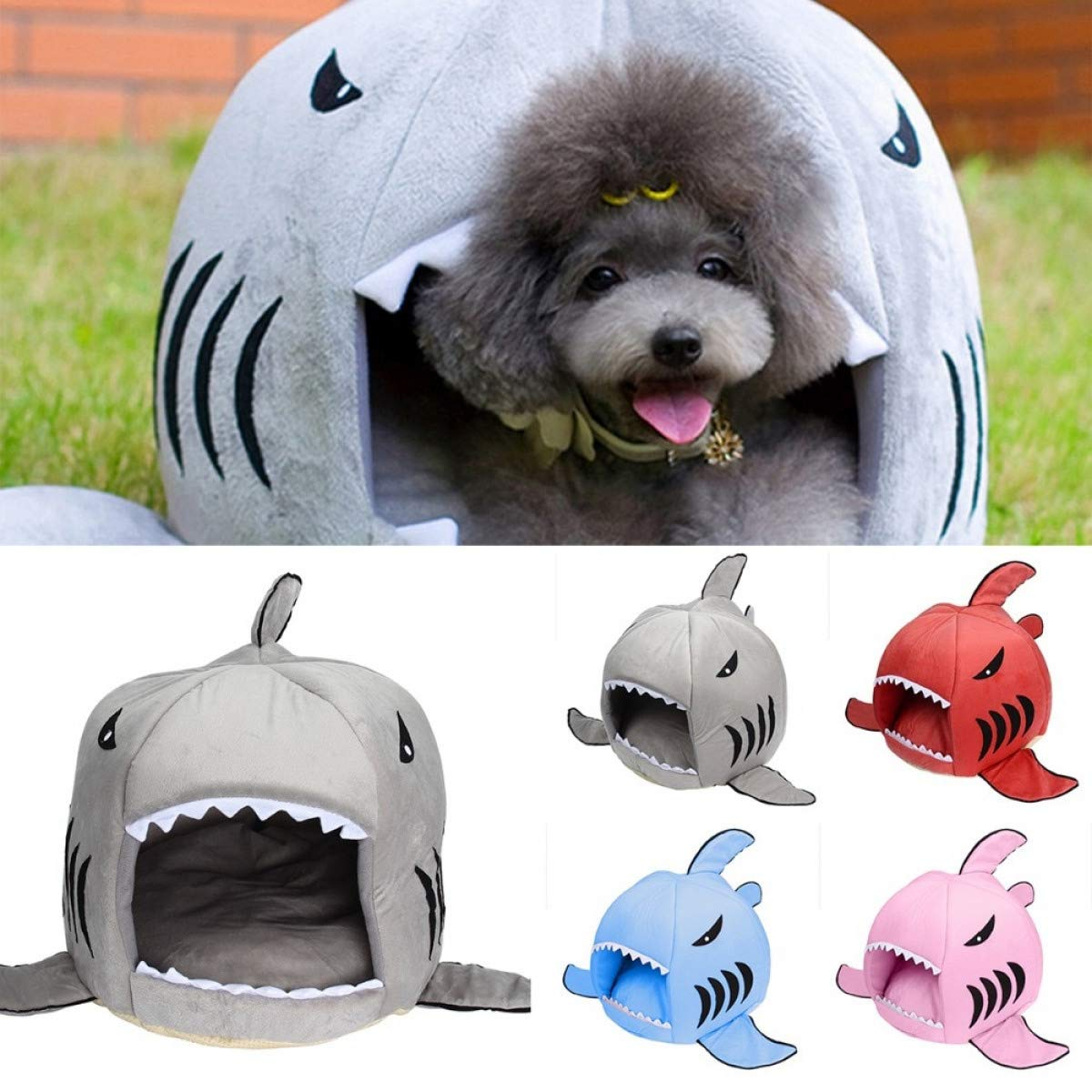 Amazon.com : FLAMINGO_STORE Dog Bed cat Bed Shaped Dog House Pet Sleeping Bag Warm Soft Dog Kennel Cat Bed Cat House cama perro Puppy House Indoor Pet ...