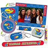 15% OFF—Kansas Jayhawks Deluxe Variety Set with Nail File, Mint Tin, Mini Mirror, Magnet Frame, Lip Shimmer, Lip Balm, Sanitizer. NCAA Gifts and Gear for Women, Mother's Day