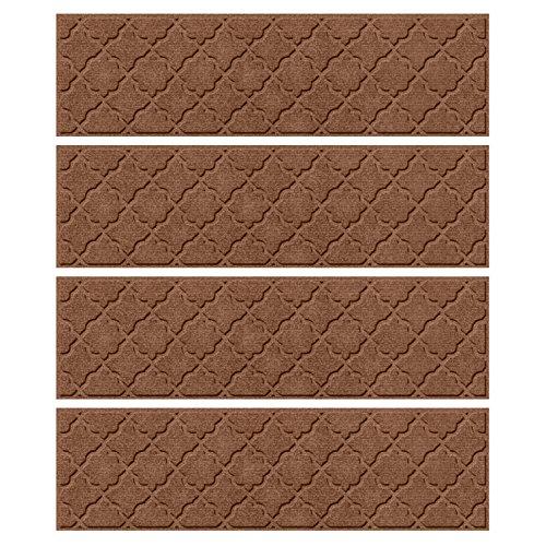 - Bungalow Flooring Waterhog Indoor/Outdoor Stair Treads, Set of 4, 8-1/2